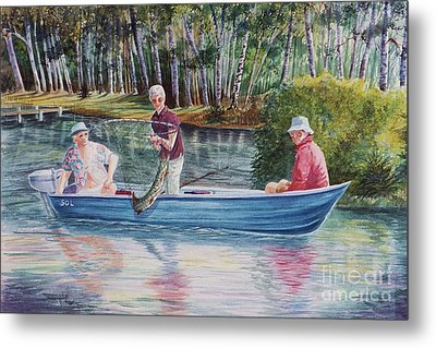 Musky Madness Metal Print by Marilyn Smith