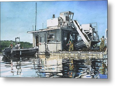 Mussel Harvest On Penn Cove Metal Print by Perry Woodfin