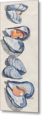 Mussels Metal Print by Jan Bennicoff