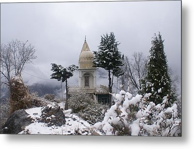 Mussoorie Winter -3 Metal Print by Padamvir Singh