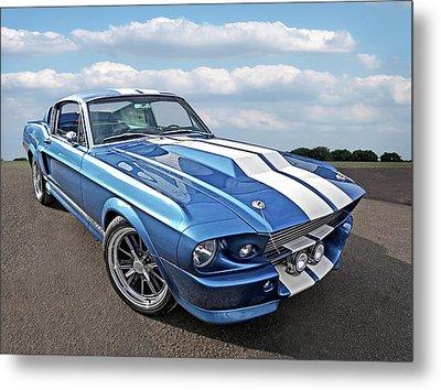 Mustang Blues - 1967 Eleanor Gt 500 Metal Print