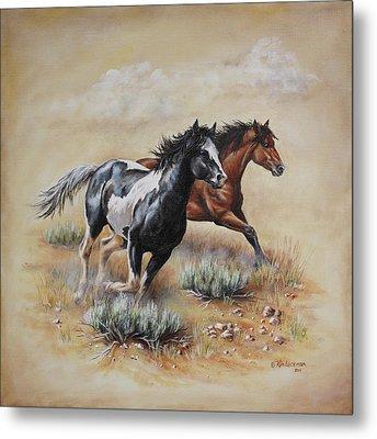 Mustang Glory Metal Print