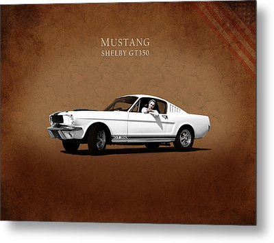 Mustang Shelby Gt 350 Metal Print by Mark Rogan
