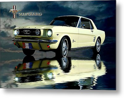 Metal Print featuring the photograph Mustang by Steven Agius