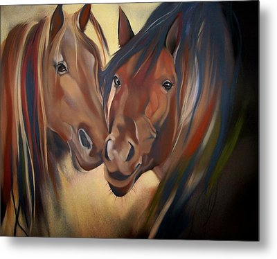 Mustangs Metal Print by Marika Evanson