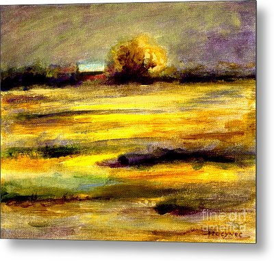 Mustard Fields Metal Print by Addie Hocynec