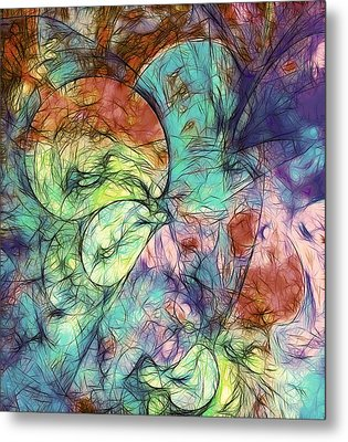 Muted Heaven Abstract Metal Print