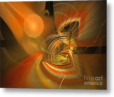 Mutual Respect - Abstract Art Metal Print by Sipo Liimatainen