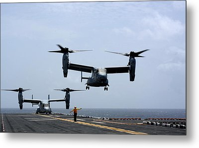 Mv-22 Osprey Aircrafts Us Navy Metal Print by Celestial Images