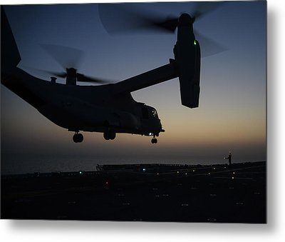 Mv-22b Osprey Tiltrotor Aircraft  Metal Print by Celestial Images