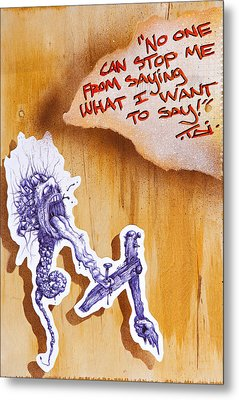 My 1st Amendment Right Begets A Piece Of This Kind Metal Print by Tai Taeoalii