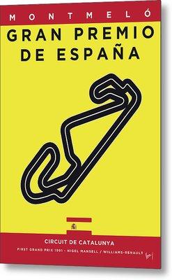 My 2017 Gran Premio De Espana Minimal Poster Metal Print