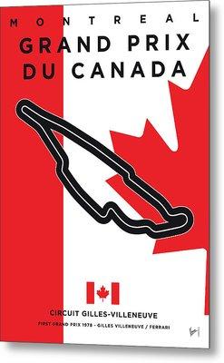My 2017 Grand Prix De Canada Minimal Poster Metal Print