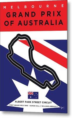 My 2017 Grand Prix Of Australia Minimal Poster Metal Print