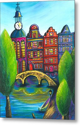 My Amsterdam Metal Print by Beryllium Canvas