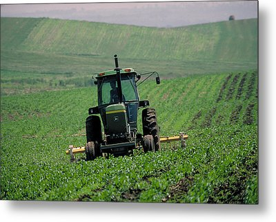 My Big Green Tractor Metal Print by Garry McMichael