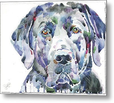 My Black Lab Metal Print