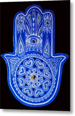My Blue Hamsa Metal Print by Patricia Arroyo
