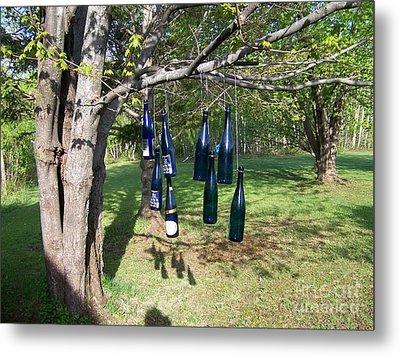 My Bottle Tree - Photograph Metal Print by Jackie Mueller-Jones