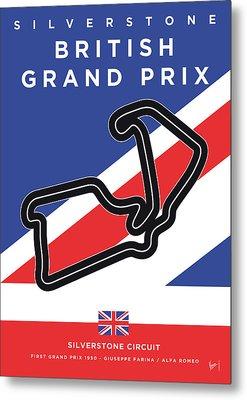My British Grand Prix Minimal Poster Metal Print