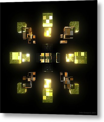My Cubed Mind - Frame 100 Metal Print