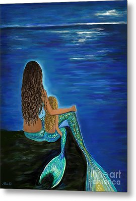 Metal Print featuring the painting My Darling Daughter by Leslie Allen