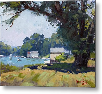 My Demonstration At Plein Air Workshop At Mayors Park Metal Print by Ylli Haruni