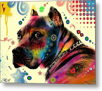 My Dog Metal Print by Mark Ashkenazi