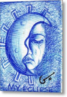 My Eclipse Metal Print by Agatha Green