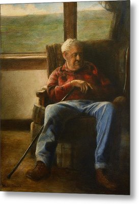 Metal Print featuring the painting My Father by Wayne Daniels
