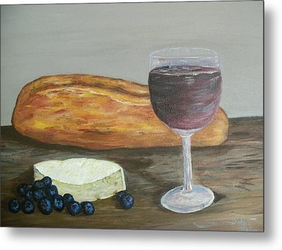 Metal Print featuring the painting My Favorite Things by Debbie Baker