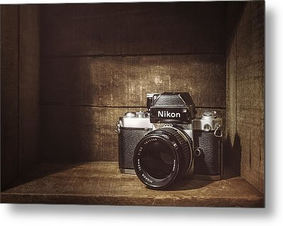 My First Nikon Camera Metal Print by Scott Norris