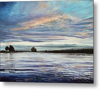 My First Sunset Metal Print by Elizabeth Robinette Tyndall
