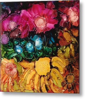 My Flower Garden Metal Print by Suzanne Canner