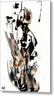 My Form Of Jazz Series 10062.102909 Metal Print by Kris Haas