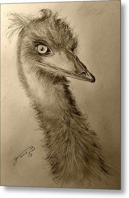 My Friend Emu Metal Print by Jose A Gonzalez Jr