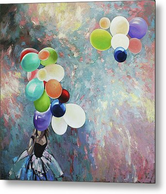 Metal Print featuring the painting My Friend The Wind. by Anastasija Kraineva