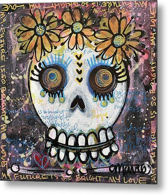 Metal Print featuring the painting My Future Is So Bright With You by Laurie Maves ART