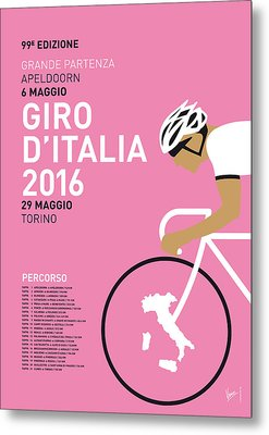 My Giro Ditalia Minimal Poster 2016 Metal Print