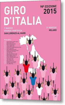 My Giro D'italia Minimal Poster Percorso 2015 Metal Print