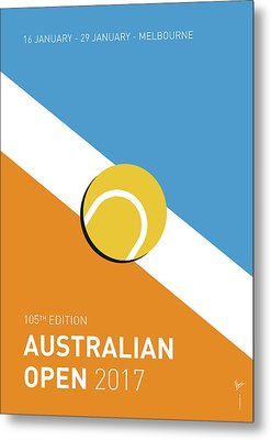 Metal Print featuring the digital art My Grand Slam 01 Australian Open 2017 Minimal Poster by Chungkong Art