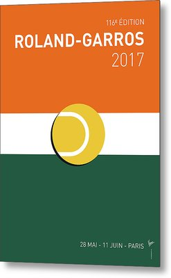 Metal Print featuring the digital art My Grand Slam 02 Rolandgarros 2017 Minimal Poster by Chungkong Art