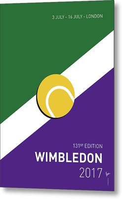 Metal Print featuring the digital art My Grand Slam 03 Wimbeldon Open 2017 Minimal Poster by Chungkong Art