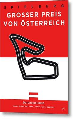 My Grosser Preis Von Osterreich Minimal Poster Metal Print