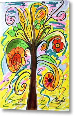 My Happiness Tree.... Metal Print