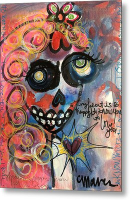 My Heart Is So Happy To Know You Metal Print by Laurie Maves ART