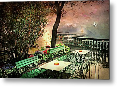 My Heart Lives In Sorrento Metal Print by Diana Angstadt