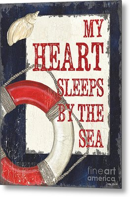 My Heart Sleeps By The Sea Metal Print