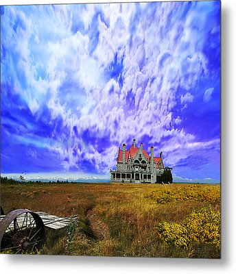 My House On A Hill Metal Print by Jeff Burgess