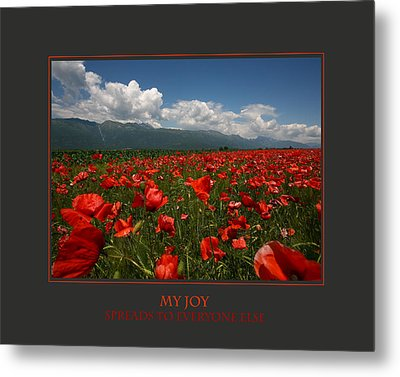 My Joy Spreads To Everyone Else Metal Print by Donna Corless